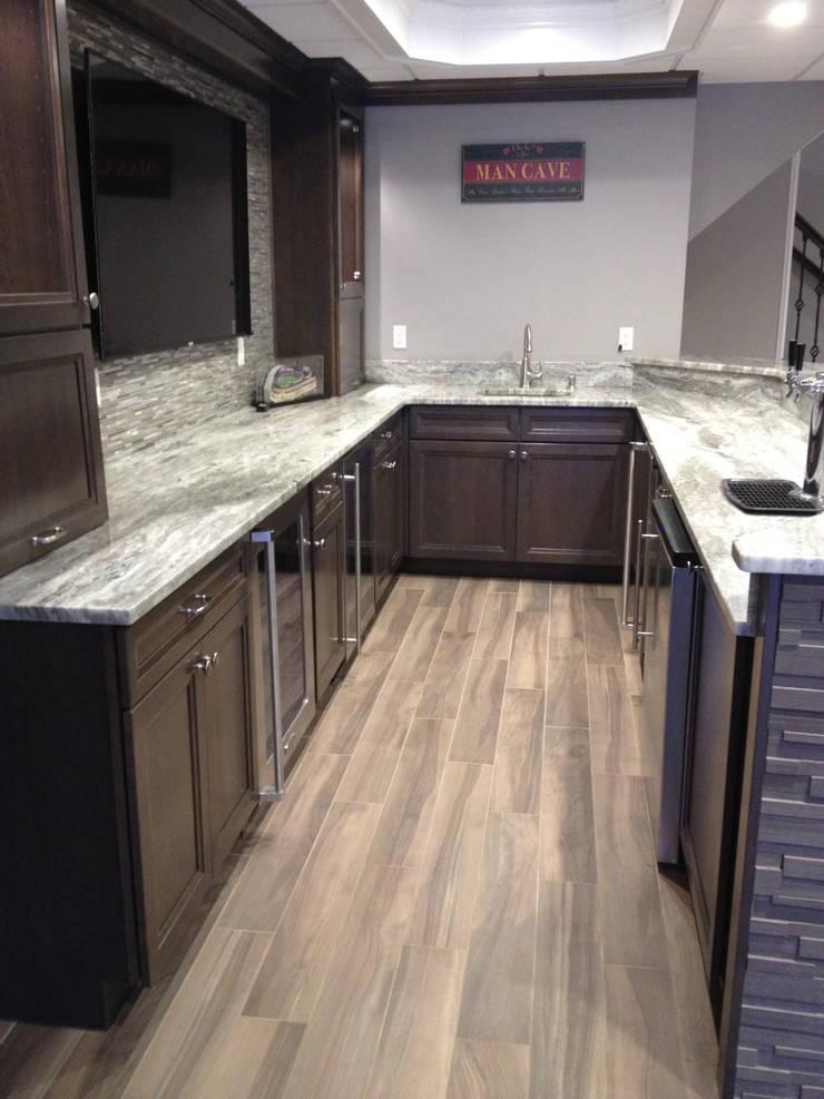 Basking Ridge Basement Bar!: classic Wine cellar by Kitchen Krafter Design/Remodel Showroom