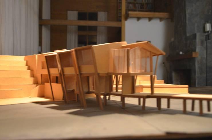 Vivienda de pescador en Queule: Casas de estilo  por Studio Himmer