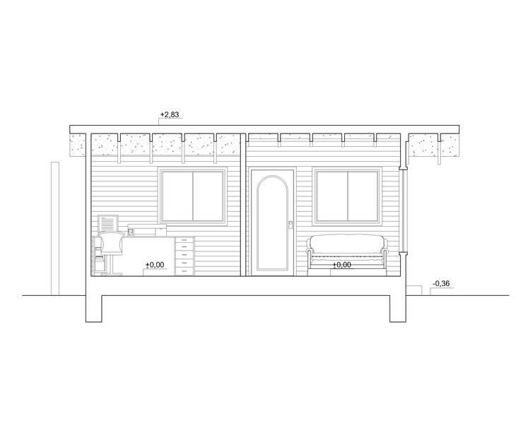 Corte:  de estilo  por Arquitectura y Construcción Chinquel