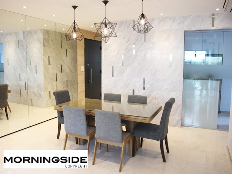 THOMSON ROAD PENTHOUSE CONDO UNIT:  Dining room by MORNINGSIDE PTE LTD