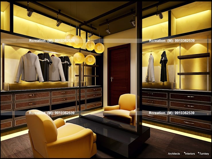 Interior: modern Dressing room by Rcreation
