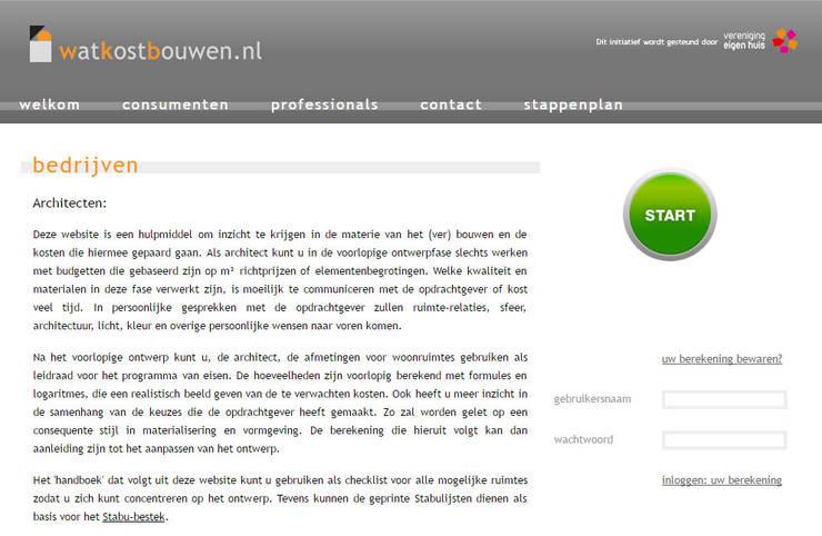 Projekty,   zaprojektowane przez watkostbouwen.nl