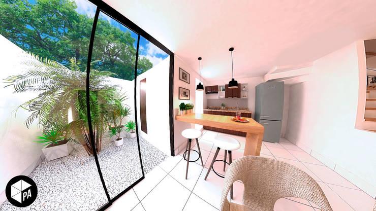 Proyecto Residencial Albores : Cocinas de estilo  por Polygon Arquitectura