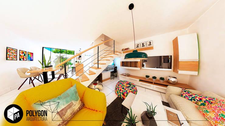 Sala - Ingreso de la casa: Salas de estilo  por Polygon Arquitectura