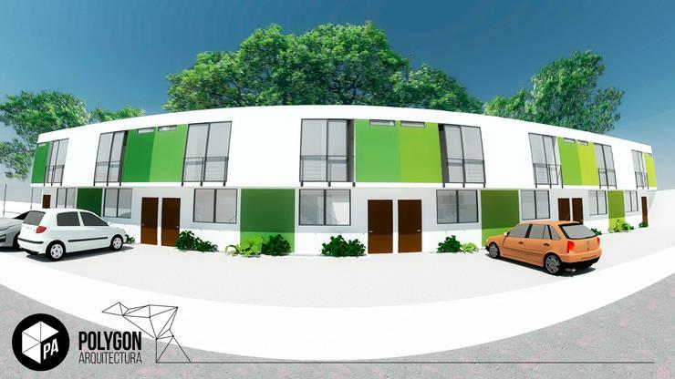 Ilustración fachadas de las casas: Casas de estilo  por Polygon Arquitectura