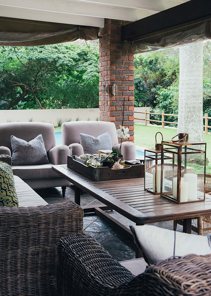 Westville:  Patios by Taryn Flanagan Interiors,