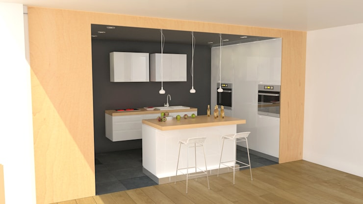 Apartment in Sliven: modern Kitchen by eNArch.info