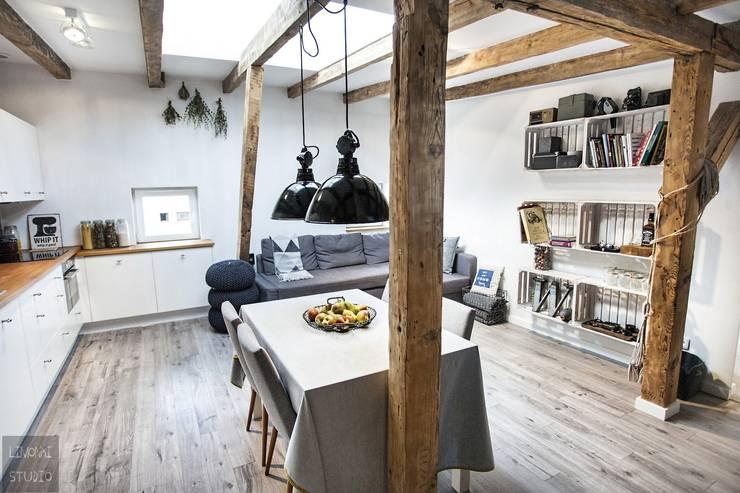 Comedores de estilo escandinavo por Limonki Studio Wojciech Siudowski
