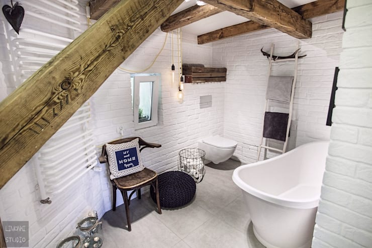 Baños de estilo escandinavo por Limonki Studio Wojciech Siudowski