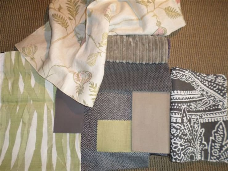 Fabric scheme selected.: eclectic  by Claire Cartner Interior Design, Eclectic Flax/Linen Pink