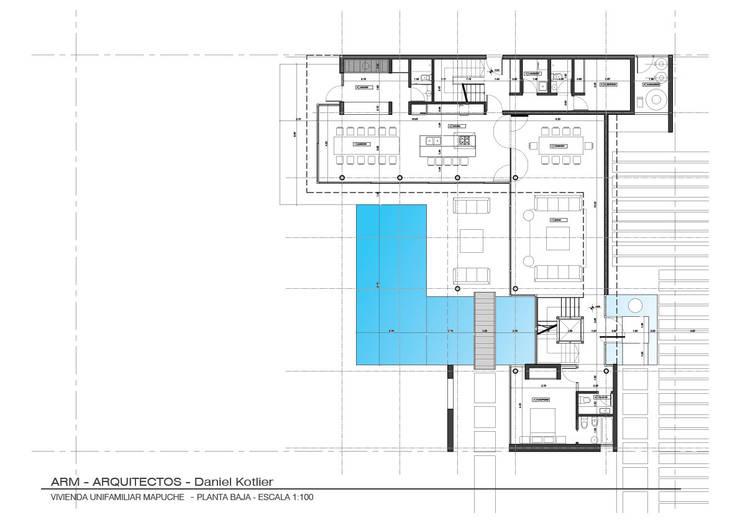 Planta Baja: Casas de estilo  por ARM Arquitectos