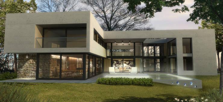 Render Proyecto: Casas de estilo  por ARM Arquitectos