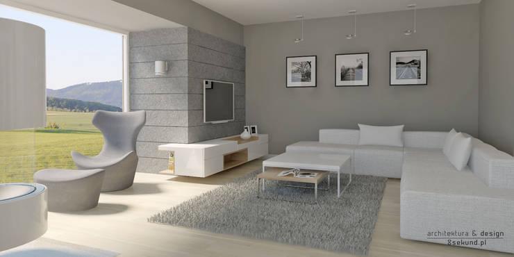 modern Living room by Pracownia Projektowa 8 Sekund Damian Wołoszyn