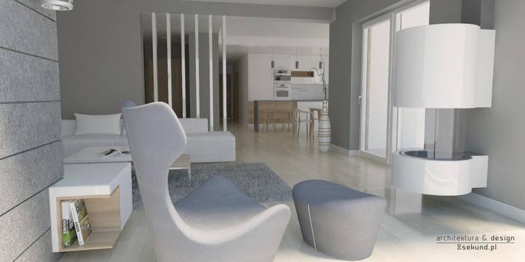 Living room by Pracownia Projektowa 8 Sekund Damian Wołoszyn