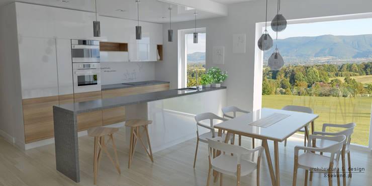 modern Kitchen by Pracownia Projektowa 8 Sekund Damian Wołoszyn