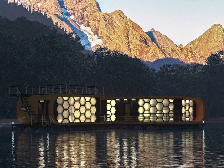 Дизайн плавучего развлекательно-гостиничного комплекса:  в . Автор – СИРИУS Архитектурное бюро
