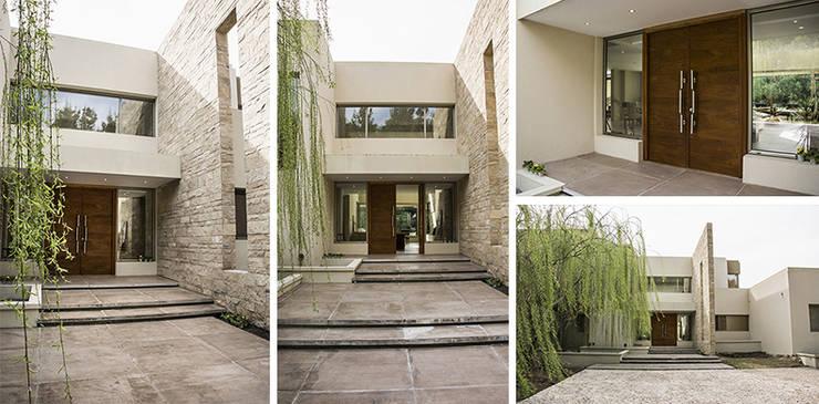 Casa en el Country: Casas de estilo  por Majo Barreña Diseño de Interiores,