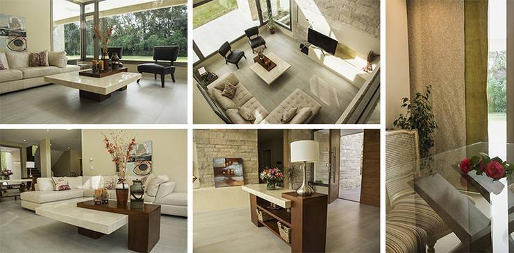 Casa en el Country: Livings de estilo  por Majo Barreña Diseño de Interiores,