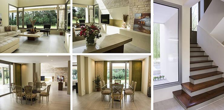 Casa en el Country: Comedores de estilo  por Majo Barreña Diseño de Interiores,