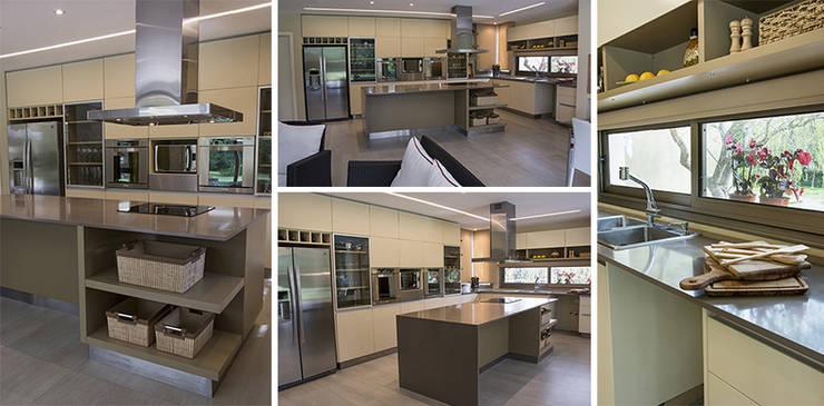 Casa en el Country: Cocinas de estilo  por Majo Barreña Diseño de Interiores,