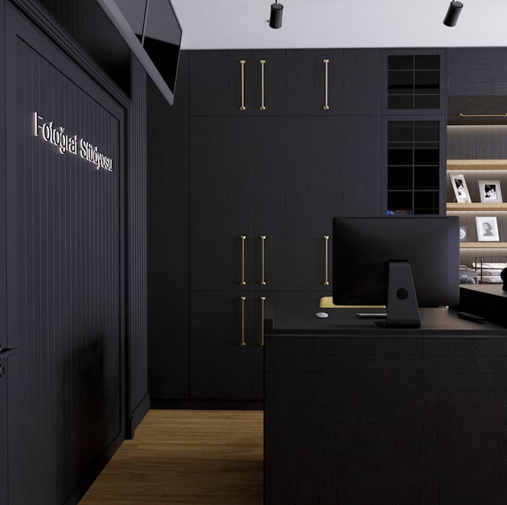 Office spaces & stores  by GN İÇ MİMARLIK OFİSİ,