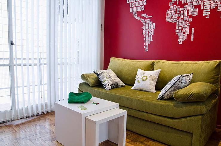 Millenials' Apartment: Livings de estilo moderno por Majo Barreña Diseño de Interiores