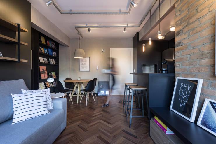 Гостиная в . Автор – K+S arquitetos associados