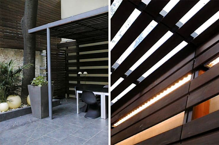 Madera, Hierro y Vidrio: Casas de estilo  por Majo Barreña Diseño de Interiores