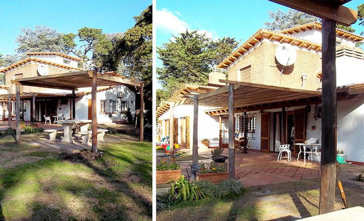 Madera: Casas de estilo  por Majo Barreña Diseño de Interiores,