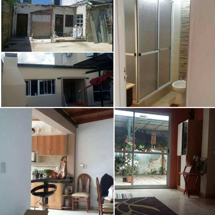 Refacción – decoración  de interiores:  de estilo  por Ea Alejandra Alvarez construcciones ARQ & DECO,