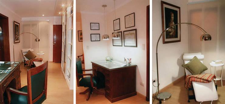 CALOR DE HOGAR: Estudios y oficinas de estilo  por Majo Barreña Diseño de Interiores,