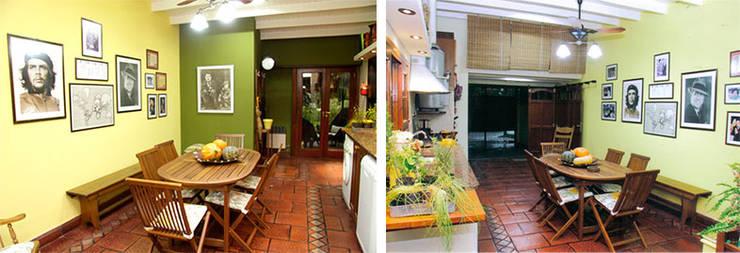 CALOR DE HOGAR: Cocinas de estilo  por Majo Barreña Diseño de Interiores,