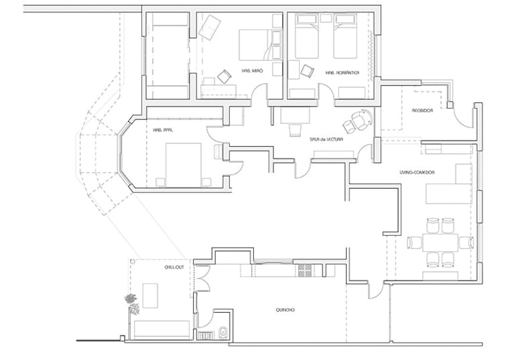 CALOR DE HOGAR: Livings de estilo  por Majo Barreña Diseño de Interiores,