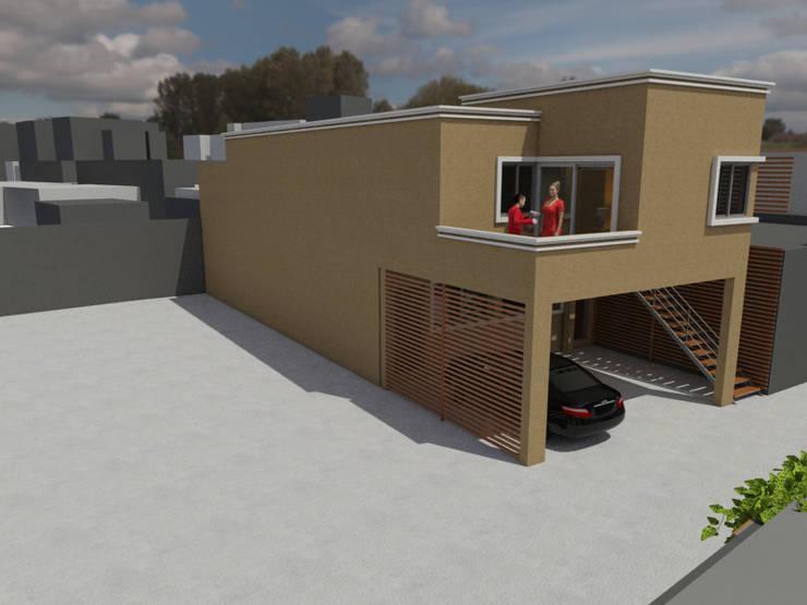 Expansión sobre fachada principal:  de estilo  por Gastón Blanco Arquitecto,