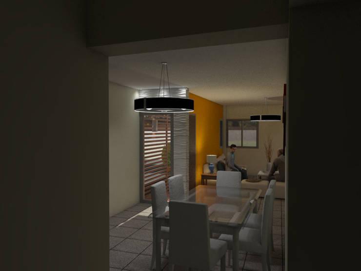 Interior Comedor:  de estilo  por Gastón Blanco Arquitecto,