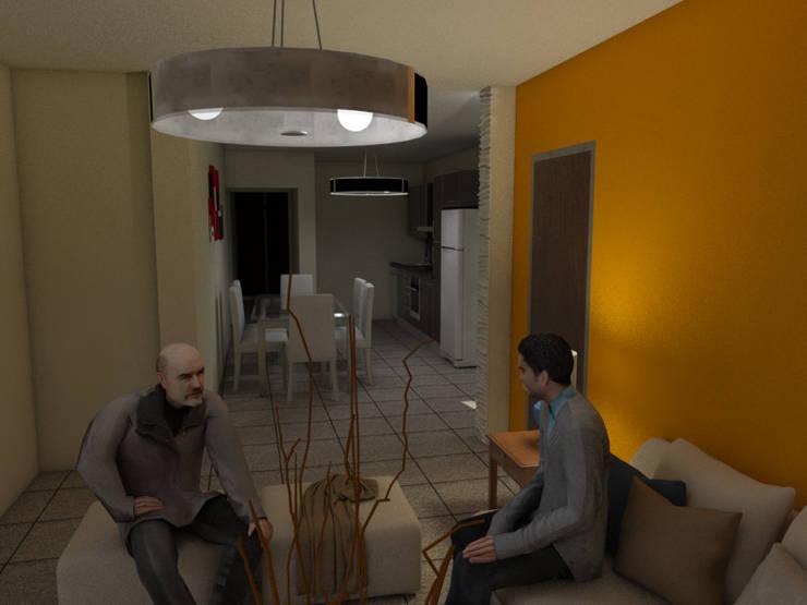 Interior Estar:  de estilo  por Gastón Blanco Arquitecto,