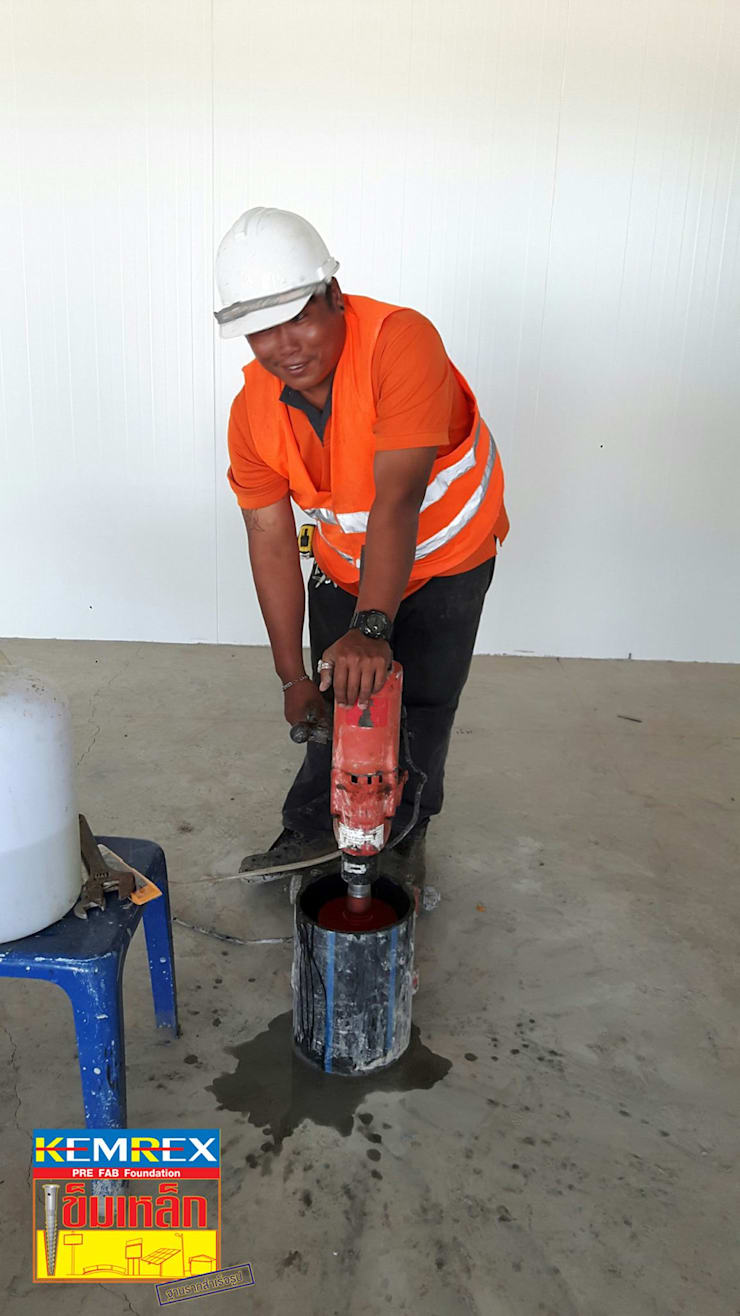 งานฐานรากถังเก็บน้ำแข็ง โรงงานน้ำแข็งจอมทอง:   by บริษัทเข็มเหล็ก จำกัด