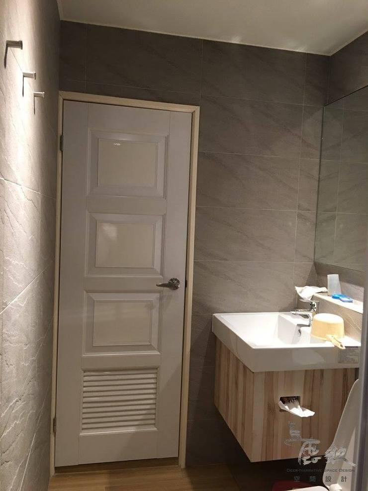 住宅|簡約民宿小會館-高雄三民:  浴室 by 鹿敘空間設計
