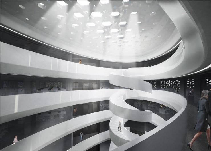 Punjab Kesari Hq.:  Office buildings by Studio Symbiosis