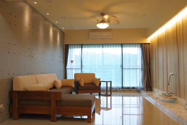 Living room by 鹿敘空間設計
