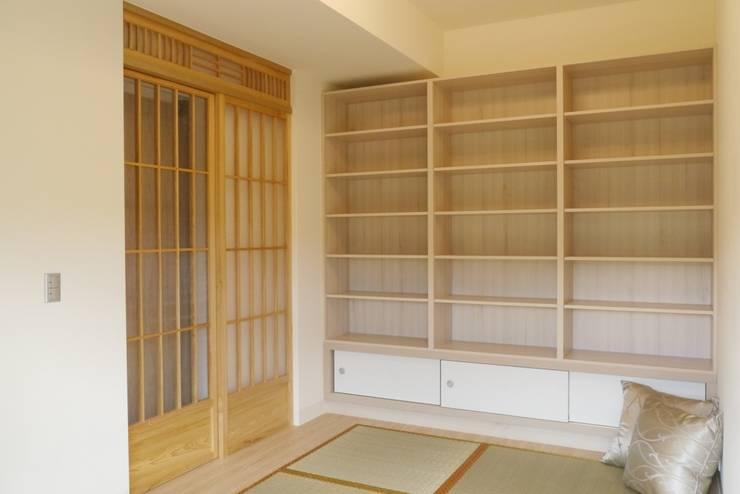 住宅|日式養老宅-高雄鼓山:  書房/辦公室 by 鹿敘空間設計