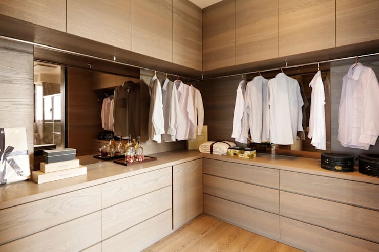modern Dressing room by 沐設計