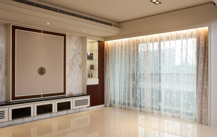 窗簾 / 窗紗:  客廳 by 敦閣織品股份有限公司