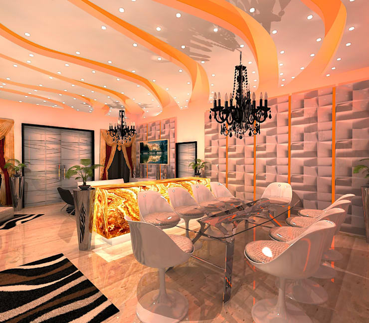 BRS Residence:  Dining room by Gurooji Designs,Modern
