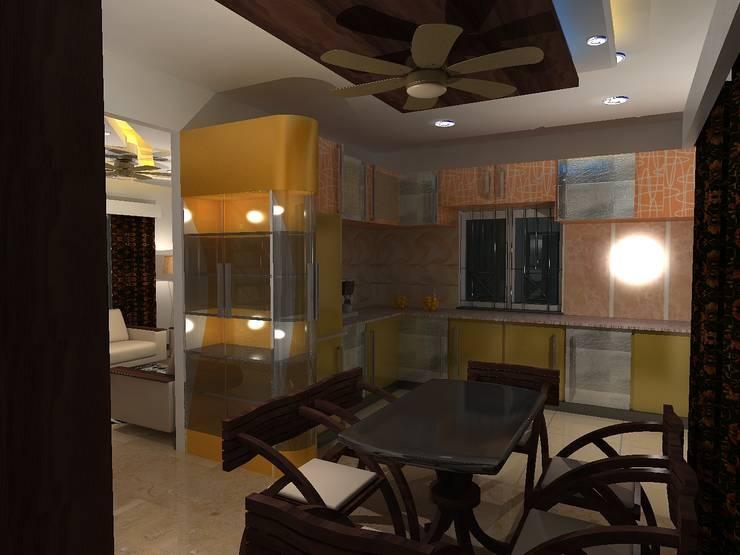 Deb Villa: modern Dining room by Gurooji Design
