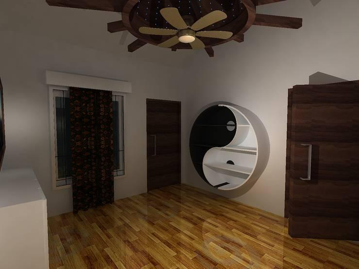 Deb Villa: modern Study/office by Gurooji Design