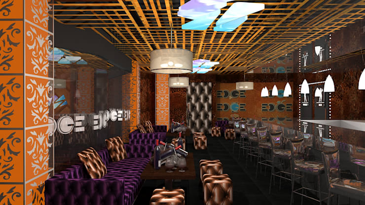 EDGE Night Club:  Bars & clubs by Gurooji Designs