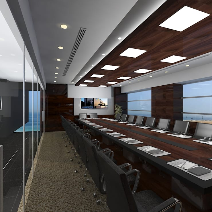 Board room:  Offices & stores by Gurooji Design