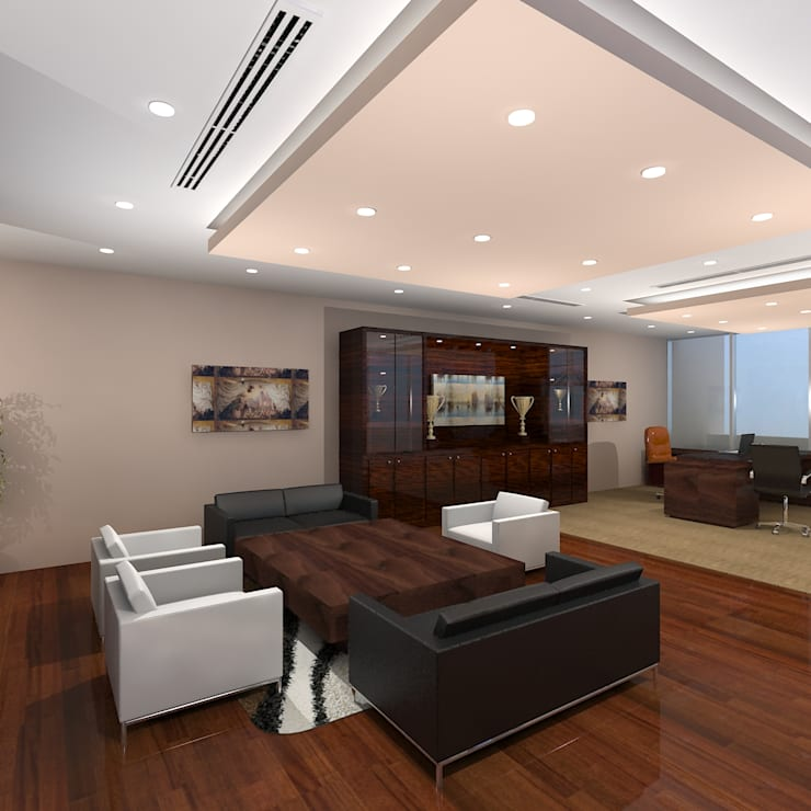 CEO Office:  Offices & stores by Gurooji Design