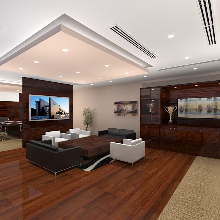 CEO Office:  Office buildings by Gurooji Design
